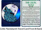 Celtic Mandalynth Travel Cards 10-Pack - Mindful Tracing Art for Stress, Anxiety and Attention Management