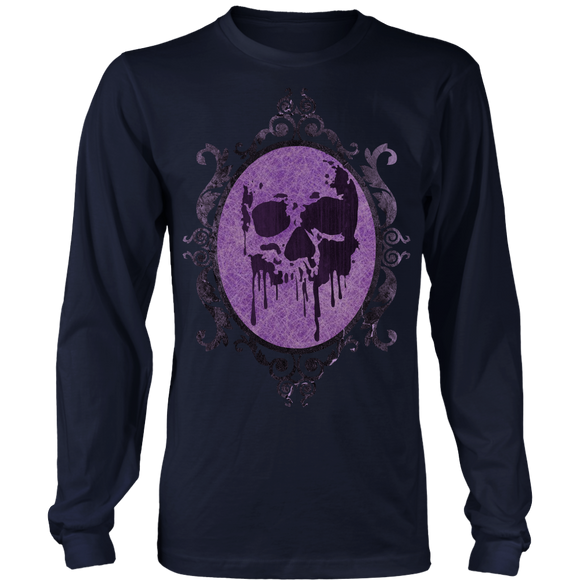 Show your goth pirate side with this purple grunge tee.  This comfortable tee is made from 100% lightweight cotton.  Perfect for any member of the Sisterhood.