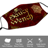 pirate, wench, lass, woman, women, red, burgundy, gold