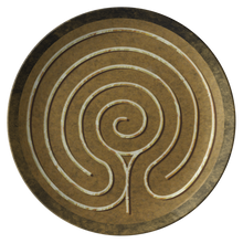 Load image into Gallery viewer, Chakra Vyuha Labyrinth ThermoSāf® Polymer Dinner Plate