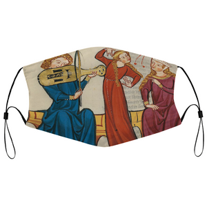 Chamber Dance Medieval Illumination Face Mask
