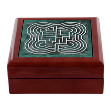 Load image into Gallery viewer, Johannes Commelyn Labyrinth Jewelry Box in Red Mahogany, Golden Oak, or Ebony Black