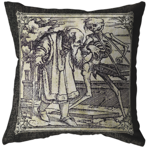 The Old Man - Hans Holbein Throw Pillow
