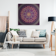 Load image into Gallery viewer, Celtic Art Burst in Sangria Canvas Wall Art
