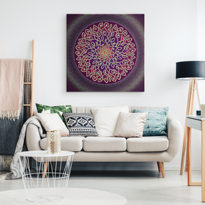 Celtic Art Burst in Sangria Canvas Wall Art