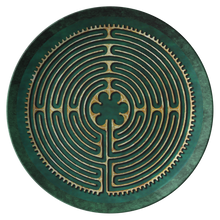 Load image into Gallery viewer, Chartres Cathedral Labyrinth ThermoSāf® Polymer Dinner Plate