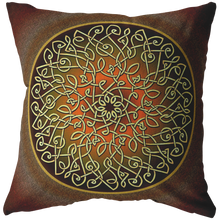 Load image into Gallery viewer, Celtic Art Burst in Autumn Throw Pillow