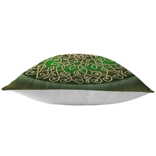 Load image into Gallery viewer, Celtic Art Burst in Sage Green Throw Pillow
