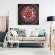 Load image into Gallery viewer, Celtic Art Burst in Red and Black Canvas Wall Art