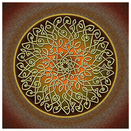 Celtic Art Burst in Autumn Canvas Wall Art