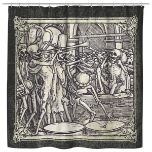 The Bones Of All Men - Hans Holbein Shower Curtain