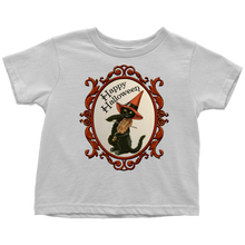 Load image into Gallery viewer, Happy Halloween Vintage Cat and Fiddle Unisex Toddler T-Shirt