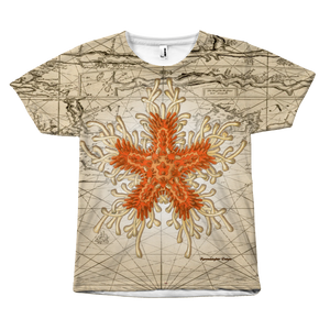 Vintage Orange Starfish Front-Print Tee