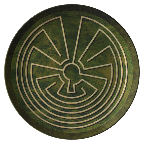 Native American Labyrinth ThermoSāf® Polymer Dinner Plate