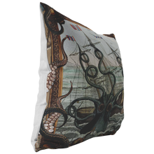 Load image into Gallery viewer, Release The Kraken! Nautical Pirate Throw Pillow