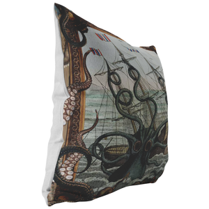 Release The Kraken! Nautical Pirate Throw Pillow