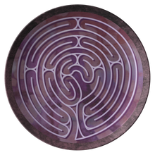 Load image into Gallery viewer, Poitiers Cathedral Labyrinth ThermoSāf® Polymer Dinner Plate