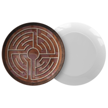Load image into Gallery viewer, St. Lambertus Labyrinth ThermoSāf® Polymer Dinner Plate