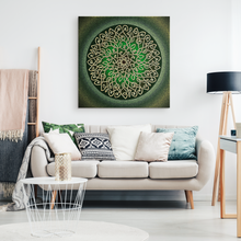 Load image into Gallery viewer, Celtic Art Burst in Sage Canvas Wall Art