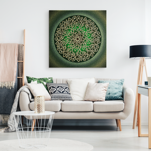 Celtic Art Burst in Sage Canvas Wall Art