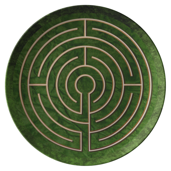 Abingdon Abbey Labyrinth ThermoSāf® Polymer Dinner Plate