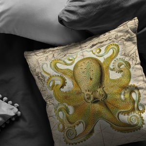 vintage,ocean,collage,sea,seafaring,nautical,pirate,jellyfish,seahorse,starfish,octopus