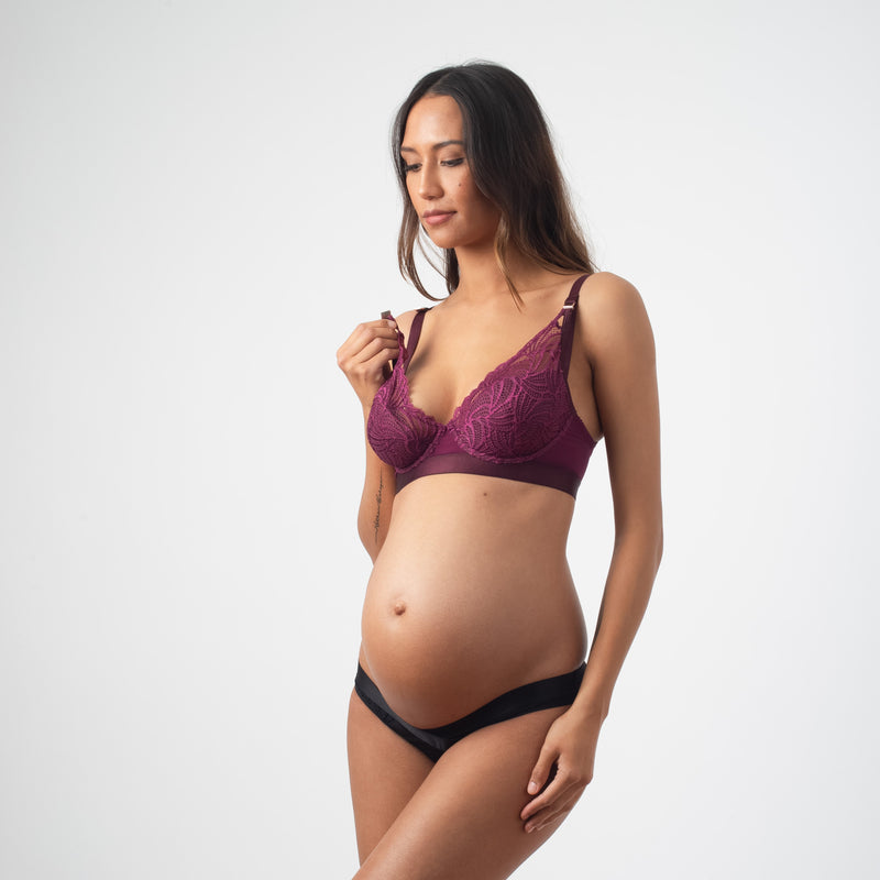 Warrior amethyst nursing bra by projectme for breastfeeding
