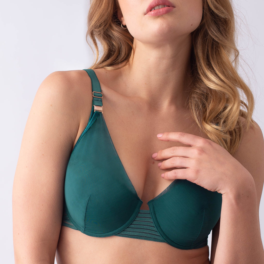 projectme me deep green ambition plunge nursing bra for maternity and pregnancy