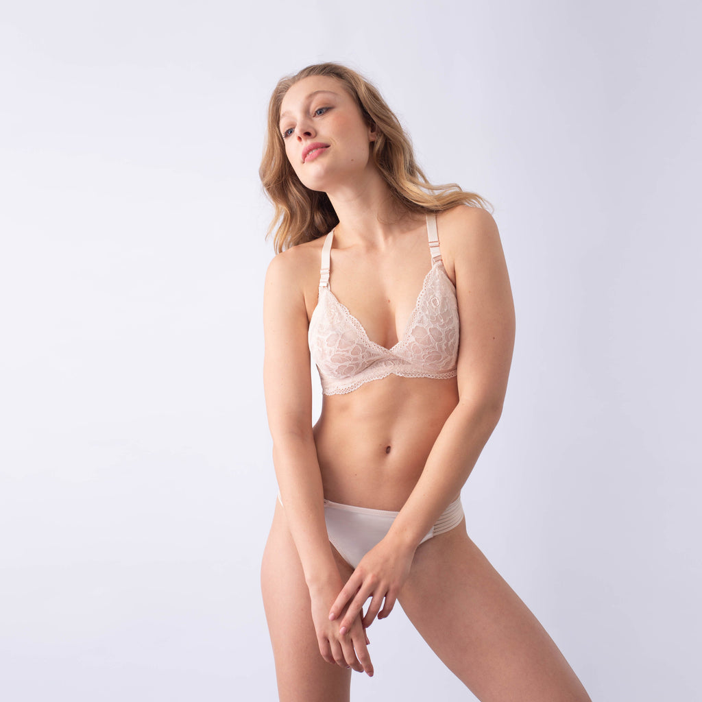 heroine shell plunge projectme nursing and maternity bra