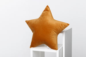 mustard velor pillows for kids room