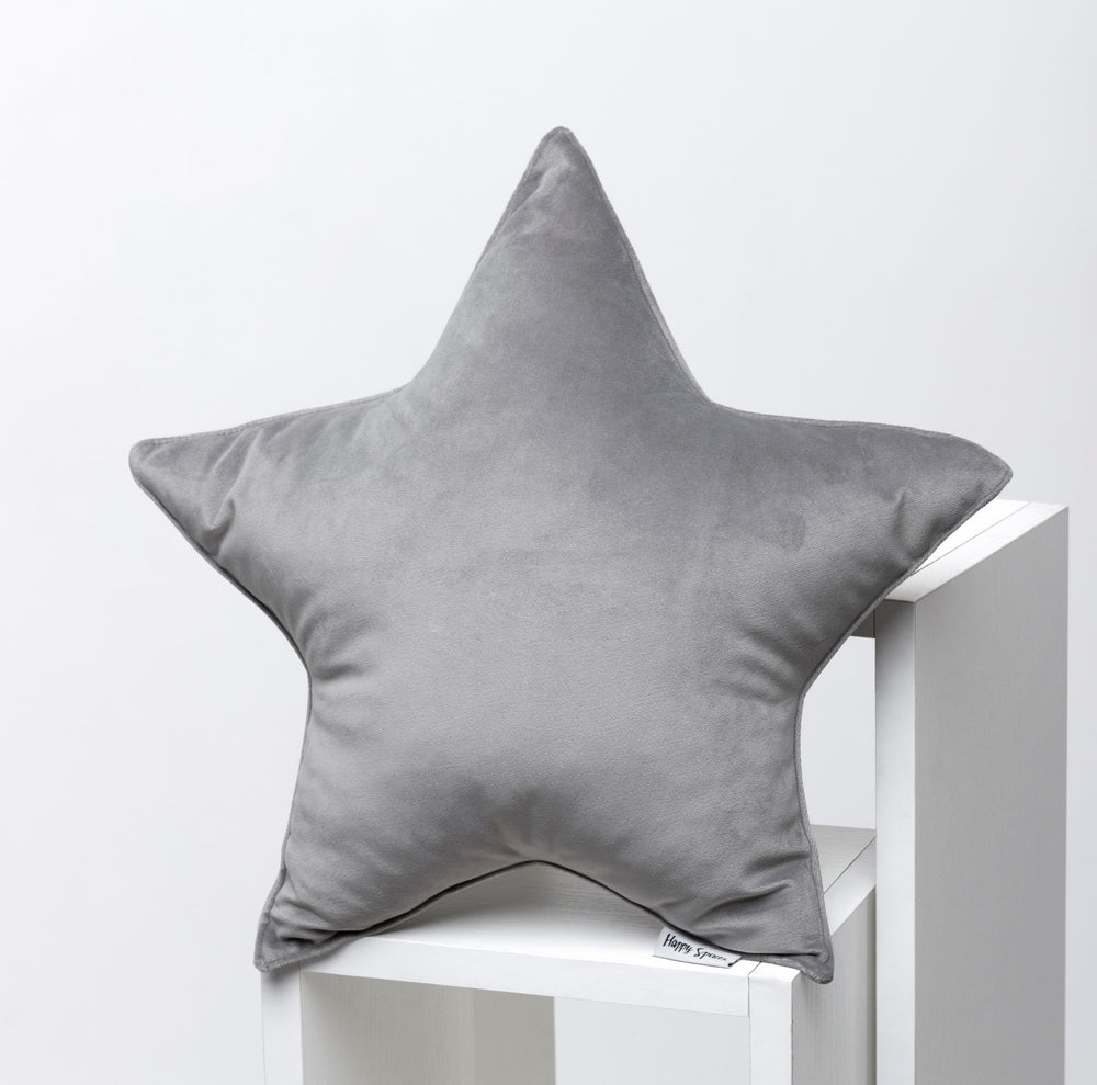 grey velor pillows for kids room