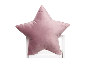 pastel pink velor pillows for kids room