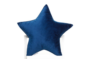 blue velor pillows for kids room
