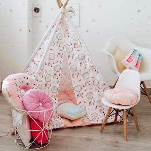 magical wigwam, play tent, pink kids tent, kids play tent, Happy Spaces teepee