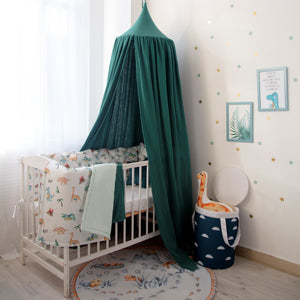 Muslin sapin canopy, baby room decor with canopy, eucalyptus canopy, dinosaur bedroom accessories