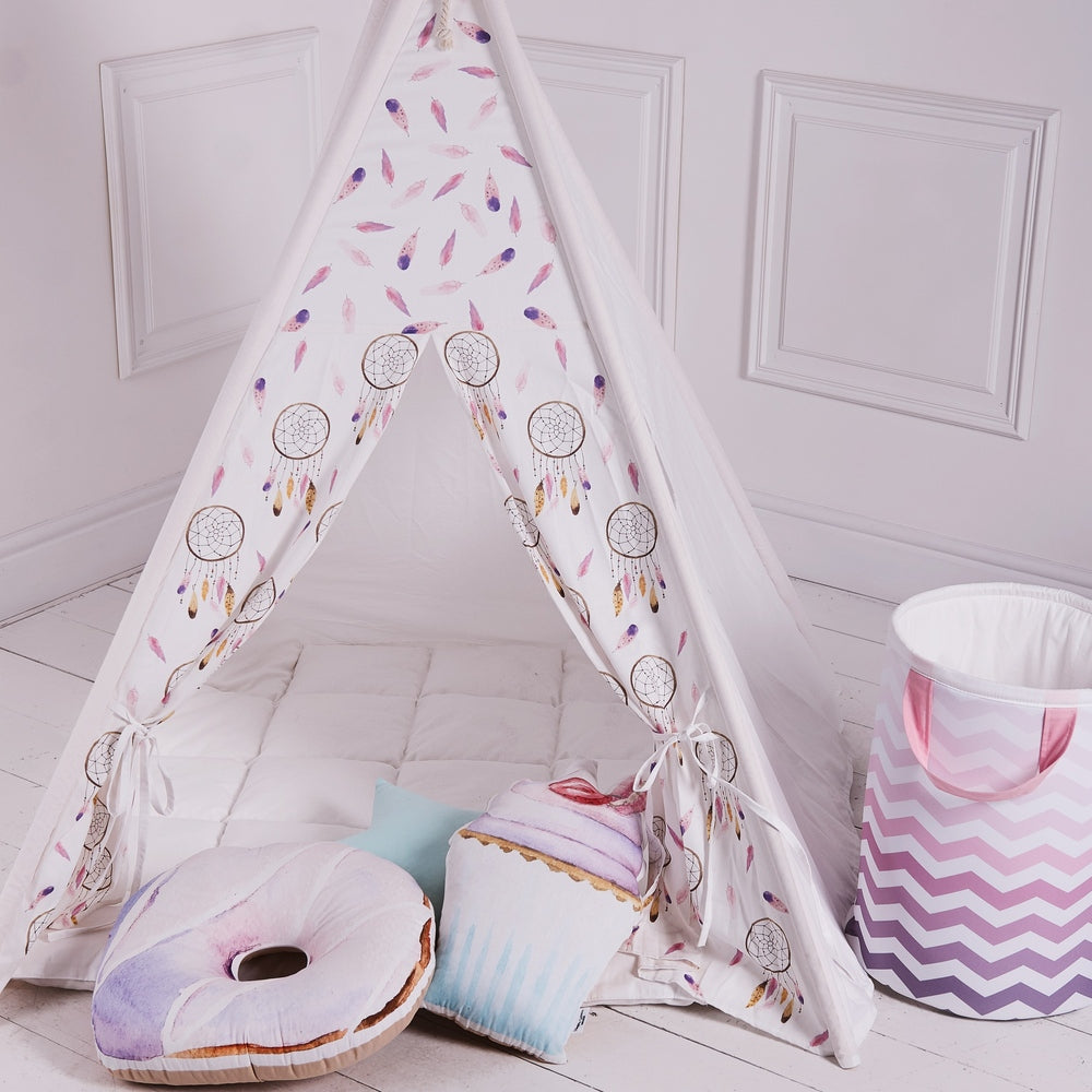 wigwam for girls, teepee for girls, pink tent, indoor tent, girls play tent