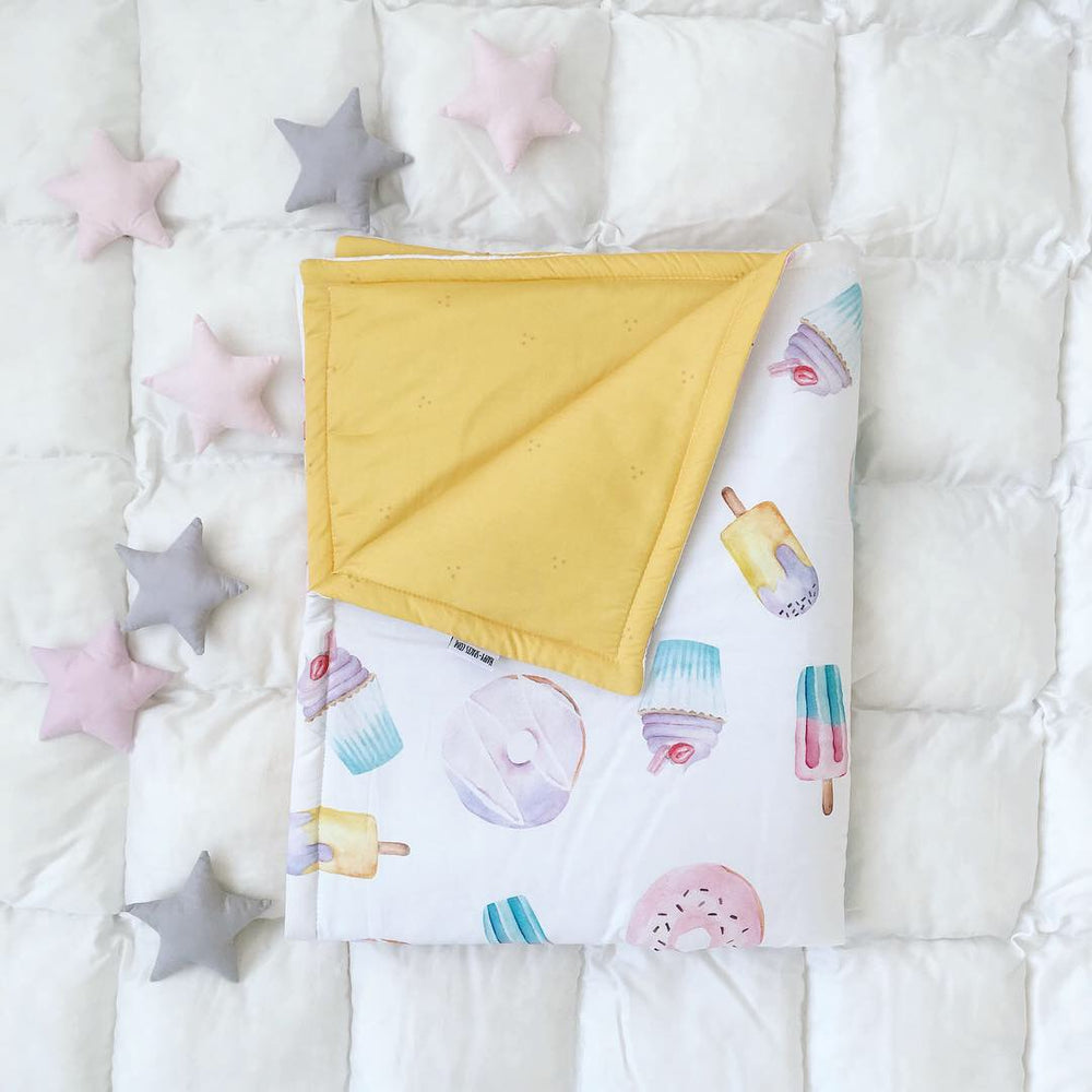 blanket with sweety, baby blankets with donats, blanket for girls, baby blankets for boys