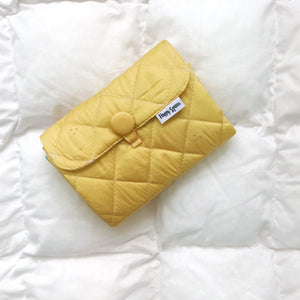 yellow baby changing mat, Happy Spaces changing mat