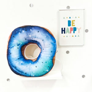Space doughnut cushion, blue pillows for boys room