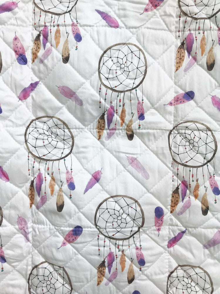 Baby changing mat with pink dream catchers