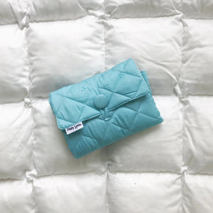 turquoise portable changing pad, portable changing mat for boys