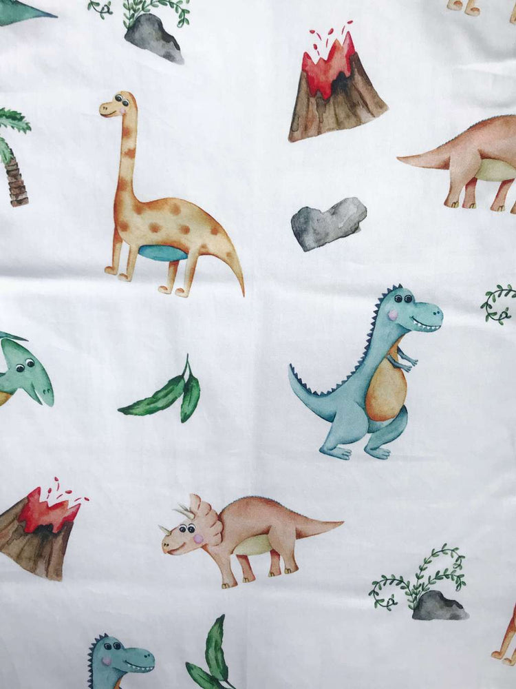 Baby sleeping bag with dinosaurs pattern