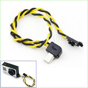 1pcs LS4G Gopro Hero3 USB 90 Degree Connector to AV Video Output Cable FPV Hero 3 Wholesale Dropship