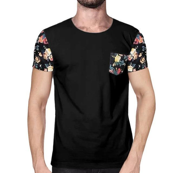 2018 Men's Crew Neck Short Sleeved Tee Tops Homme Luxury t shirt Men Plus Size S-3XL Casual Floral Printed Men T-shirt