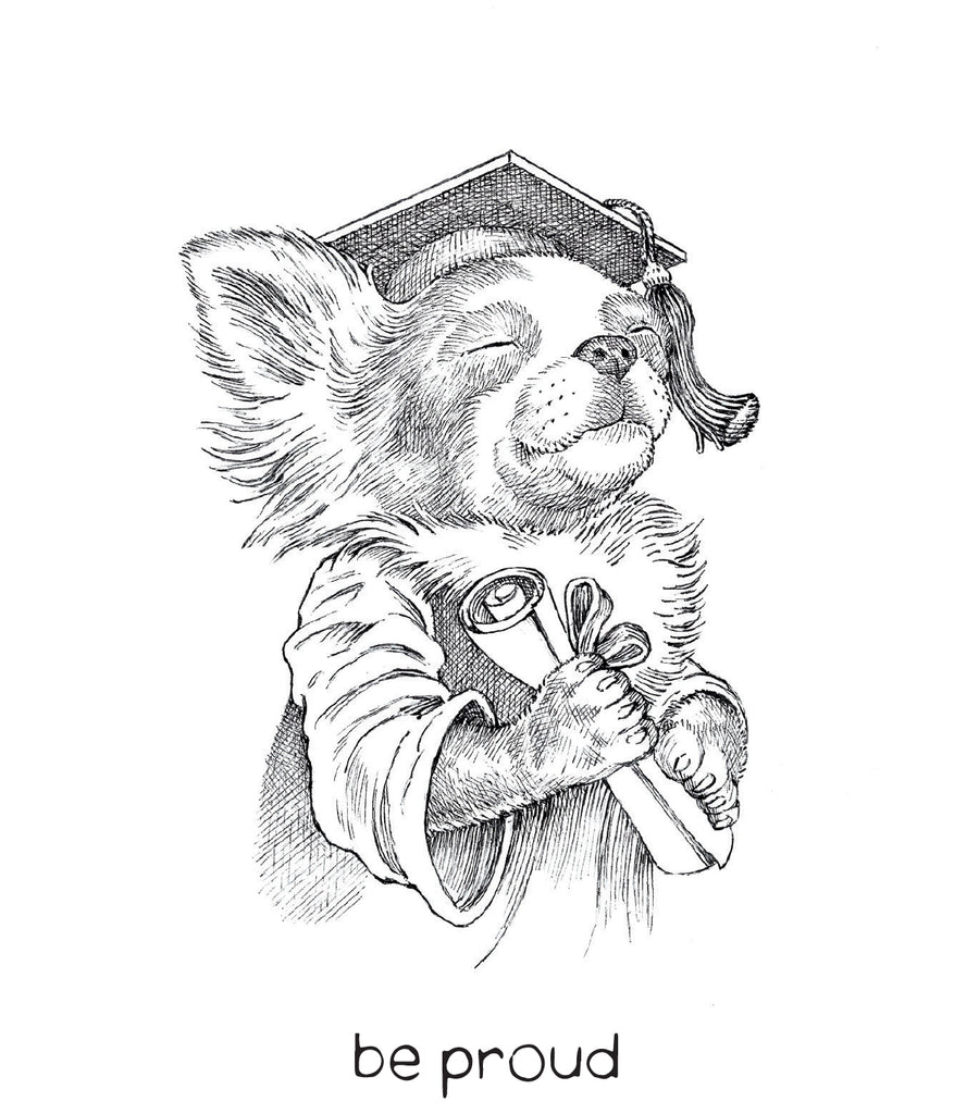 dogs + cats - Graduation card