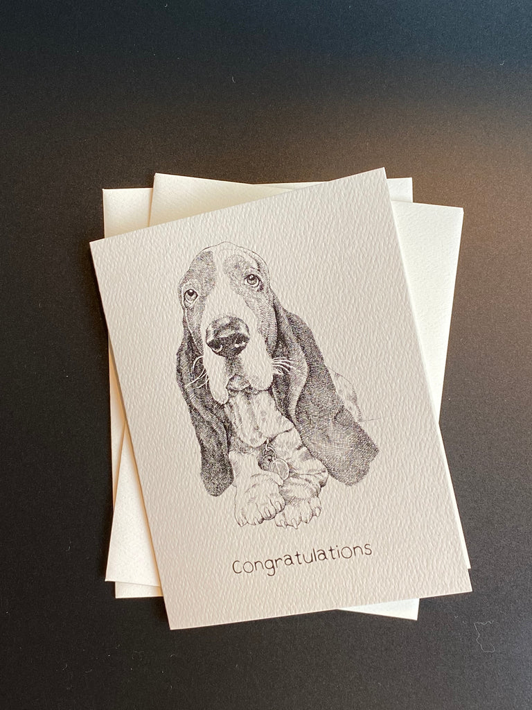 dogs + cats - Congratulations card