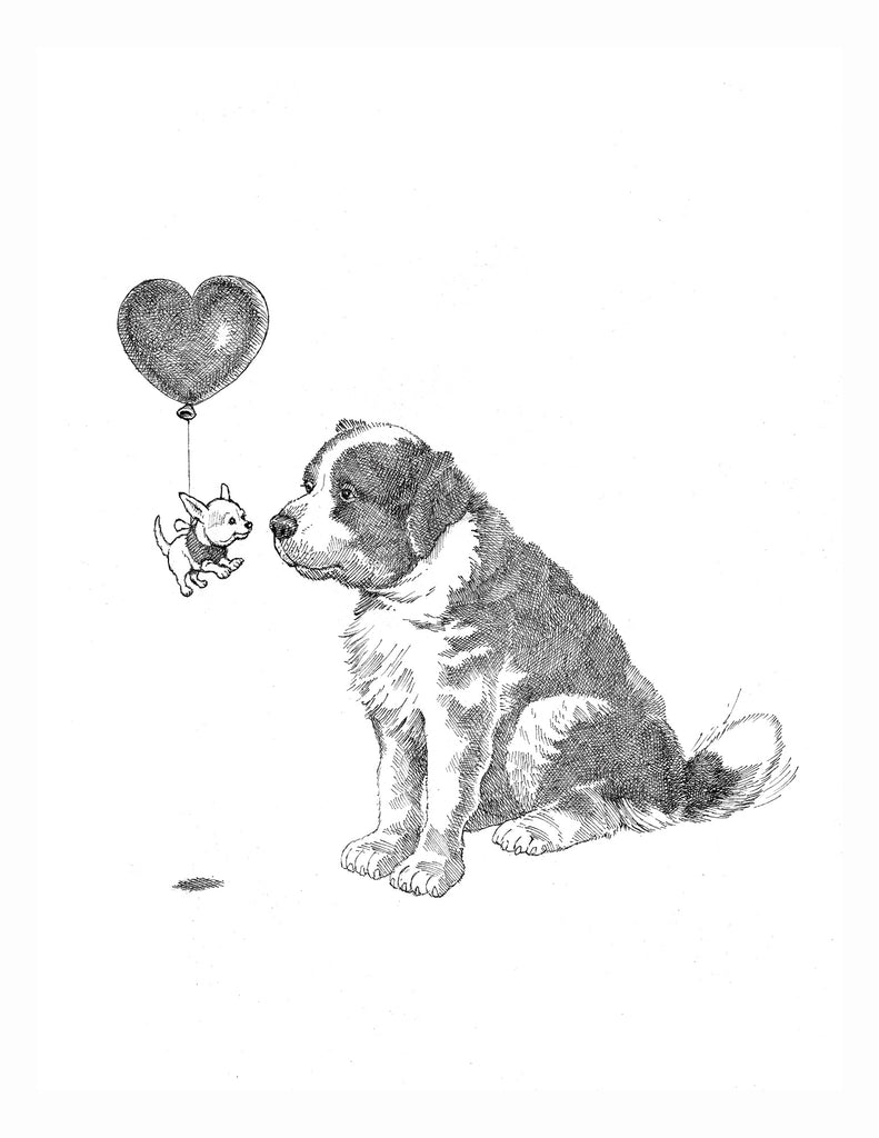 dogs + cats - Love card