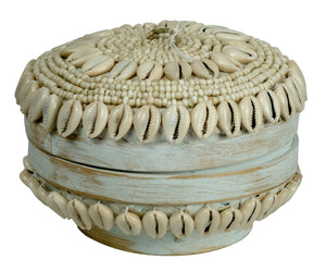 Seashell and Bamboo Keepsake Box