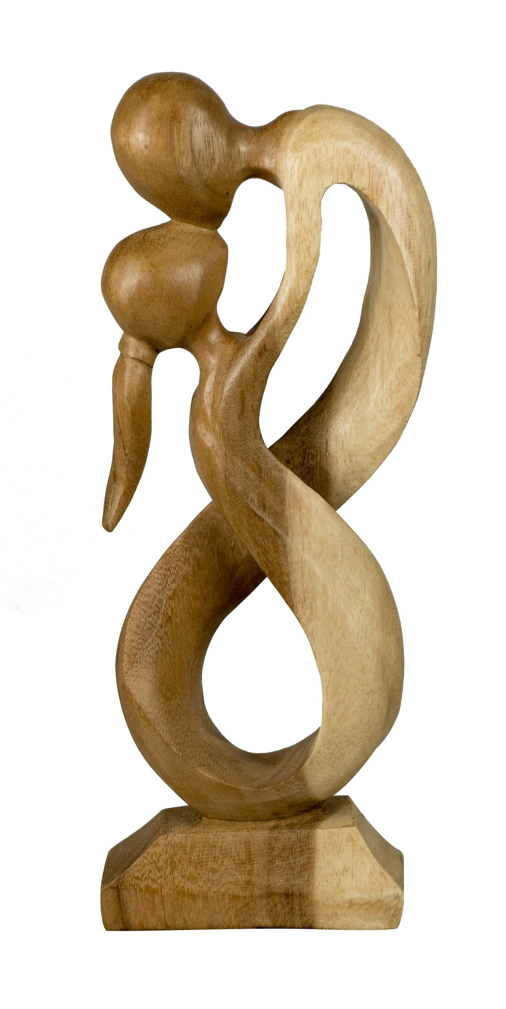 Lovers Entwined Wooden Carving