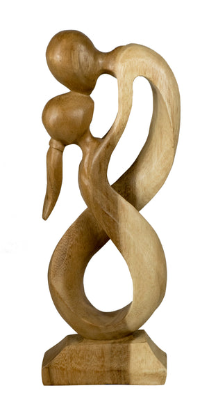 The Lovers - Abstract wooden Carving